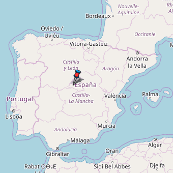 Map Of Spain Oliva.Fresnedillas De La Oliva Map Spain Latitude Longitude