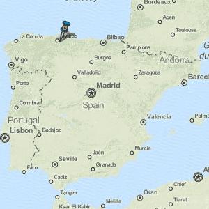 Map Of Spain Oviedo.Oviedo Uvieu Map Spain Latitude Longitude Free Maps