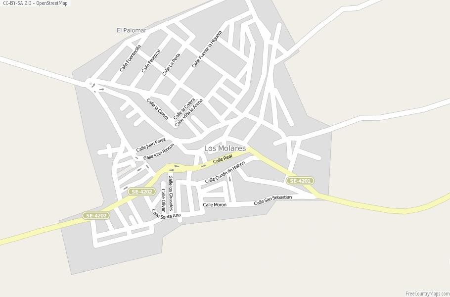 Moron Spain Map.Los Molares Map Spain Latitude Longitude Free Maps