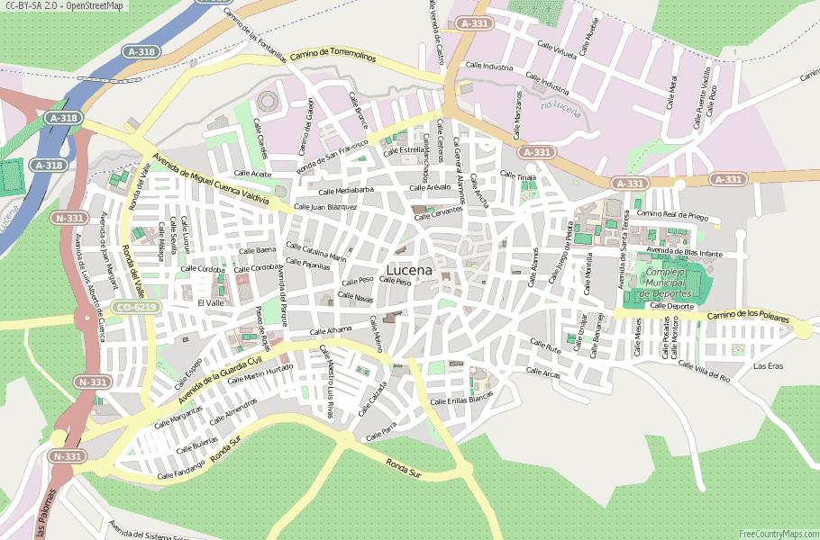 Lucena Spain Map