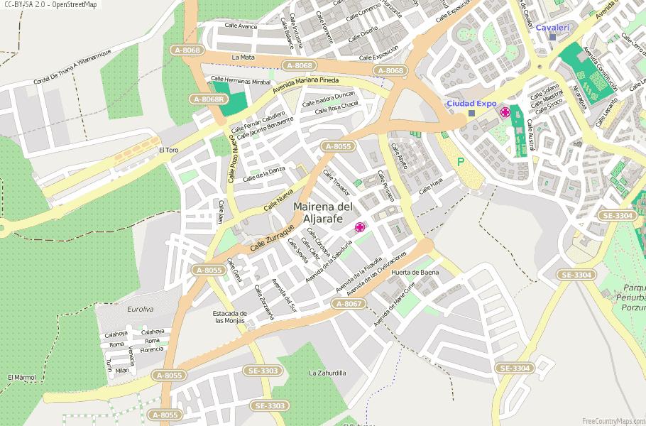 Mairena del Aljarafe Spain Map