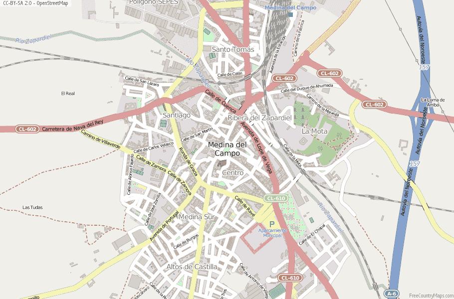 Medina del Campo Spain Map