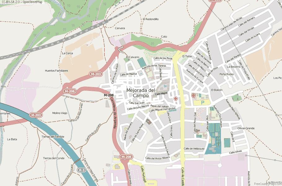 Mejorada del Campo Spain Map