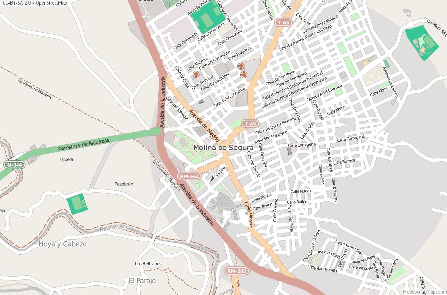 Molina de Segura Spain Map