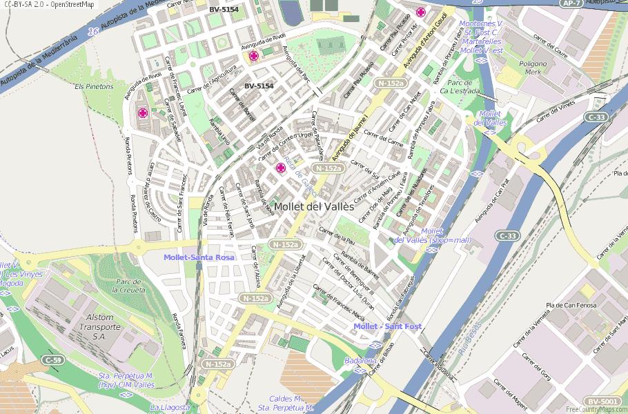 Mollet del Vallès Spain Map