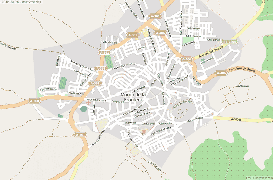 Moron Spain Map.Moron De La Frontera Map Spain Latitude Longitude Free Maps