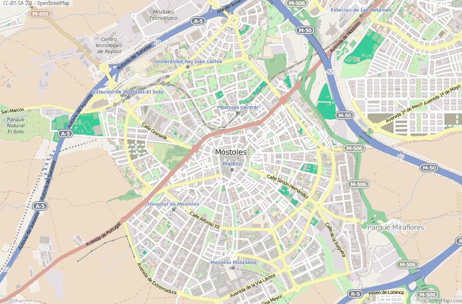 Móstoles Spain Map
