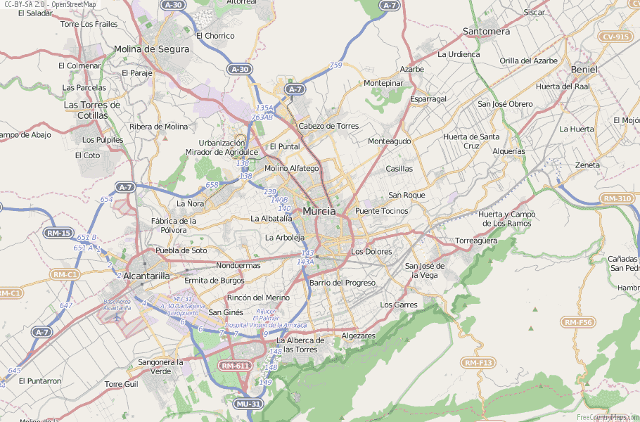 Map Of Spain Showing Murcia.Murcia Map Spain Latitude Longitude Free Maps