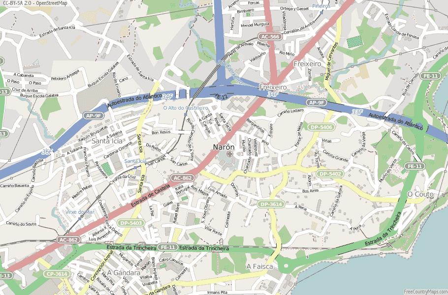 Narón Spain Map