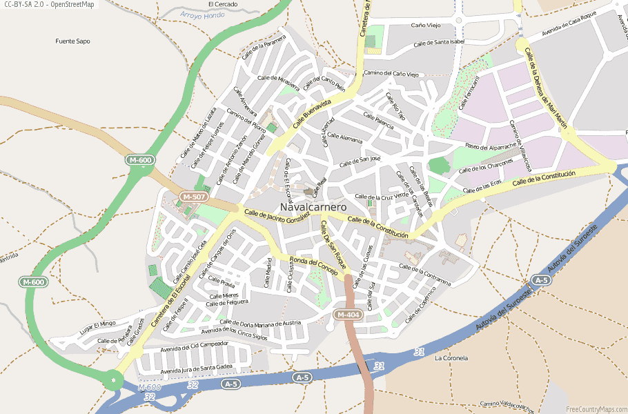 Navalcarnero Spain Map