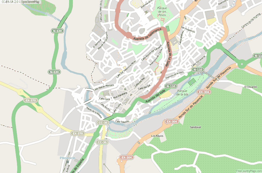 Plasencia Spain Map