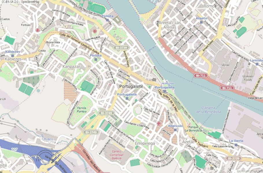 Map Of Spain 711.Portugalete Map Spain Latitude Longitude Free Maps