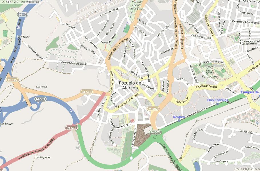 Pozuelo de Alarcón Spain Map