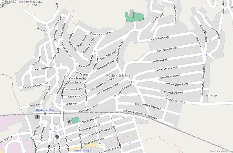 Roda De Bera Map Spain Latitude Longitude Free Maps