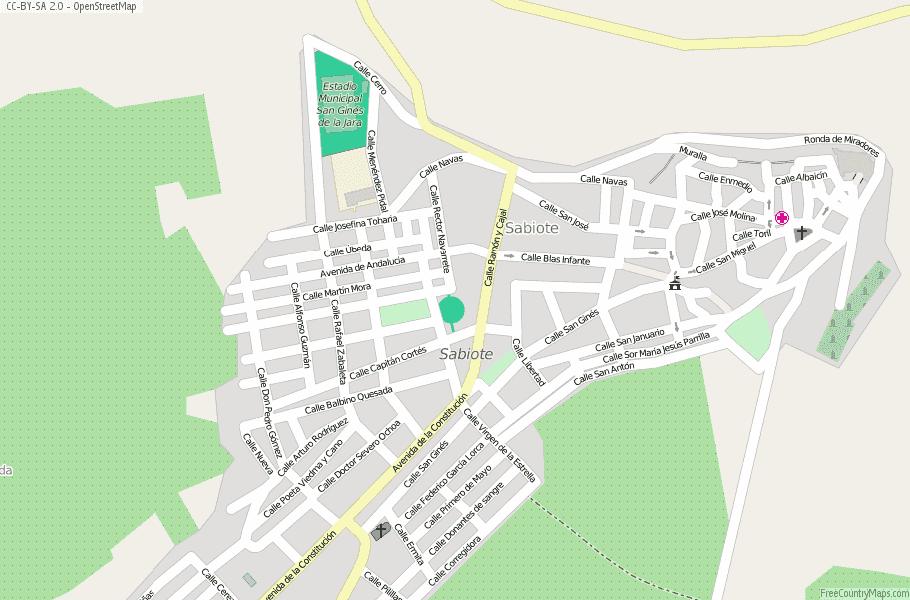 Street Map Of Quesada Spain.Sabiote Map Spain Latitude Longitude Free Maps