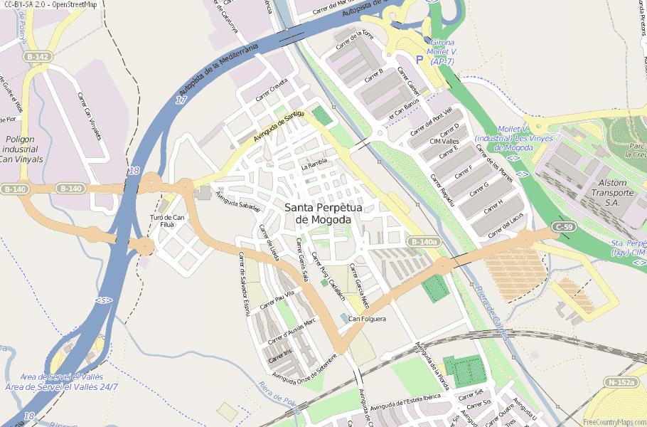 Santa Perpètua de Mogoda Spain Map