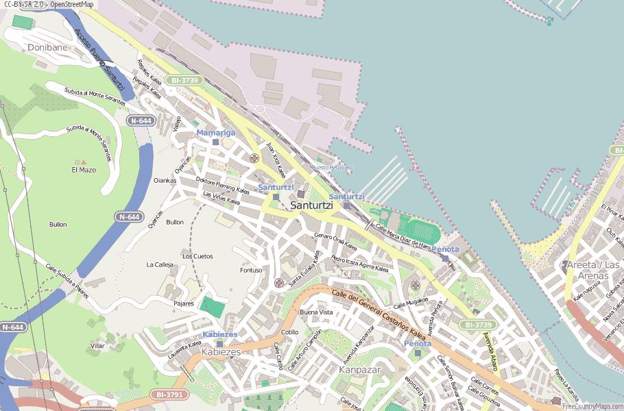 Santurtzi Spain Map