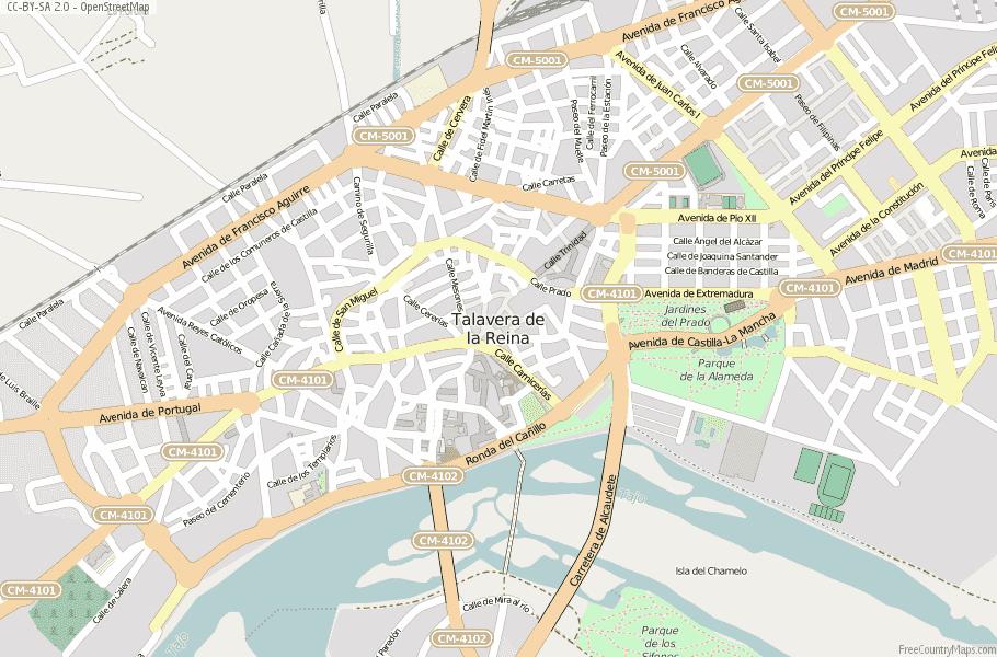 Talavera de la Reina Spain Map