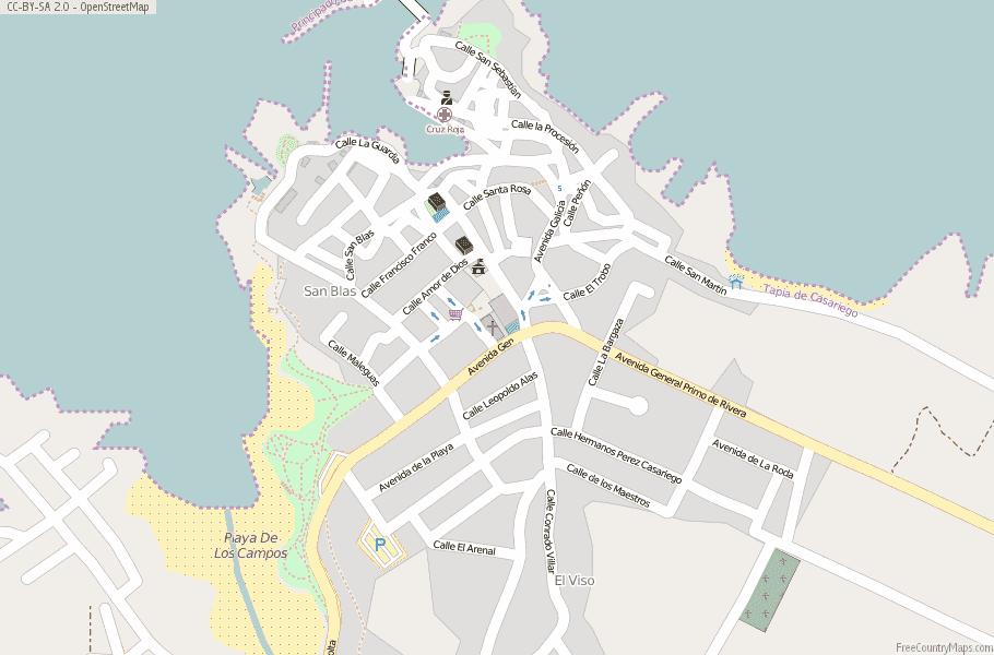 Tapia De Casariego Map Spain Latitude Longitude Free Maps