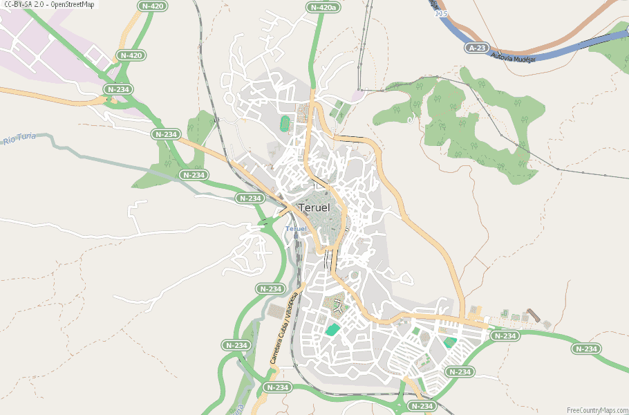 Teruel Spain Map