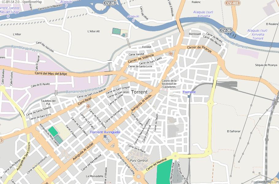 Torrent Spain Map