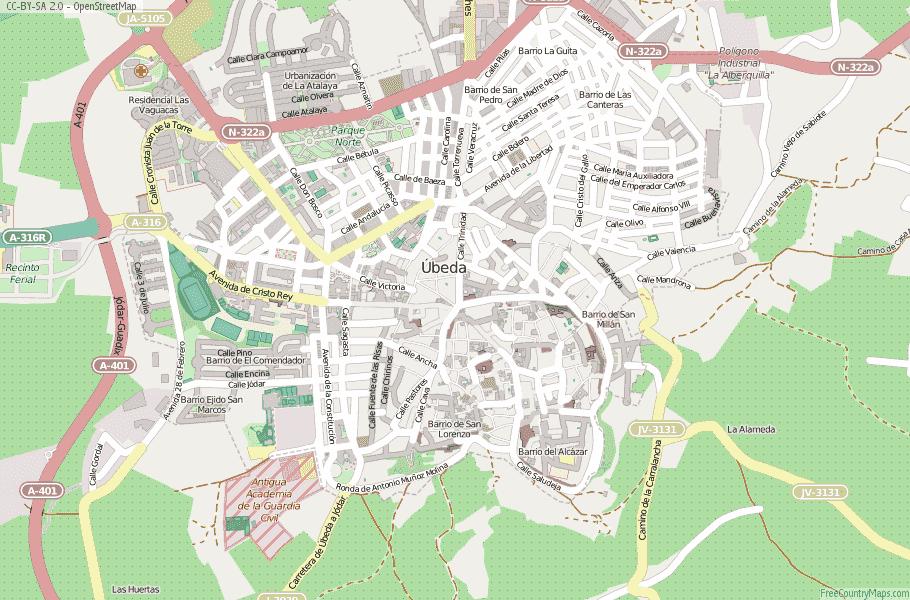 Úbeda Spain Map