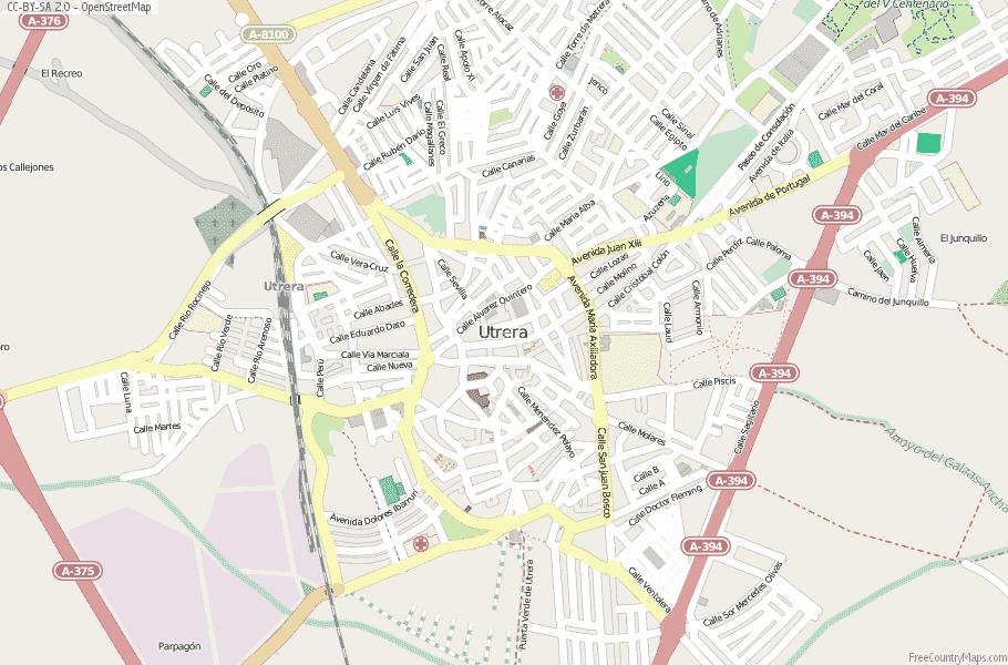 Utrera Spain Map