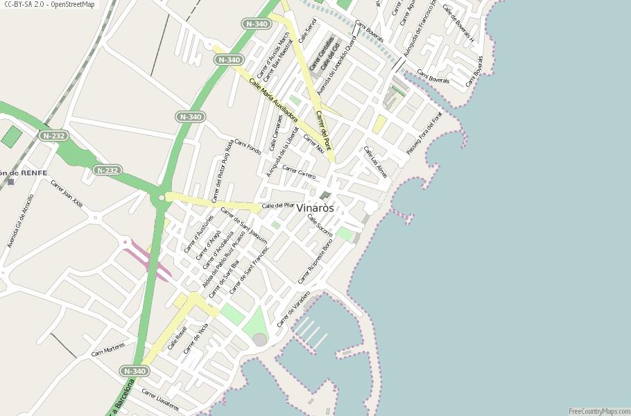Vinaròs Spain Map