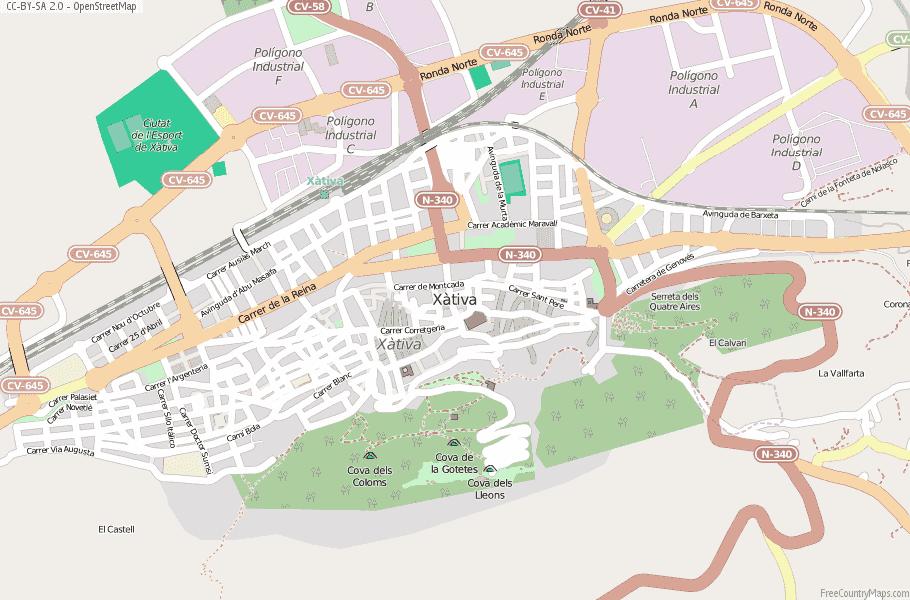 Map Of Xativa Spain.Xativa Map Spain Latitude Longitude Free Maps