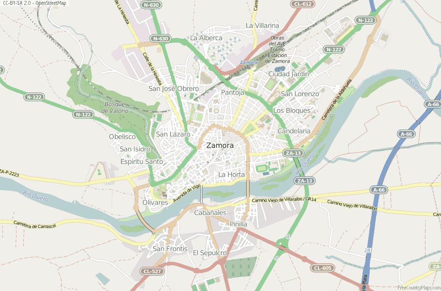 Map Of Spain Zamora.Zamora Map Spain Latitude Longitude Free Maps