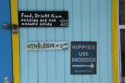 Sign Text Hippies Bar