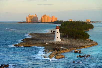 Bahamas Sea Caribbean Lighthouse