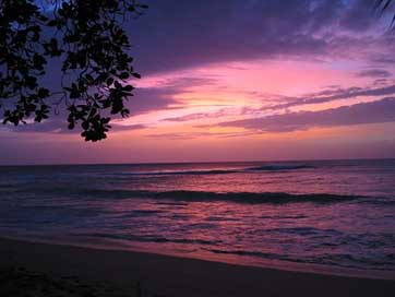 Barbados Sea Red-Sky Sunset