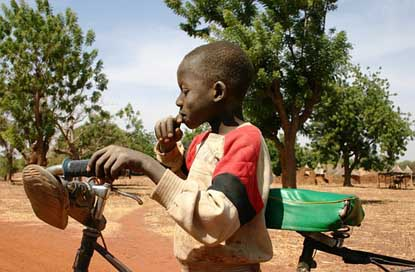 Child Bicycle Burkina-Faso Africa