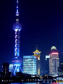 Shanghai  Night-View Oriental-Pearl-Tv-Tower