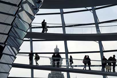 Berlin Silhouette People Reichstag