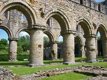 Buildwas-Abbey Columns Great-Britain England