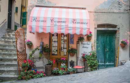 Italy Awning Store-Front Cinque-Terre Picture