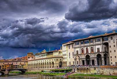 Florence Clouds Italy Ponte-Vecchio Picture