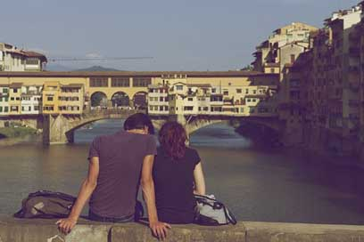 Ponte-Vecchio People Italy Florence Picture