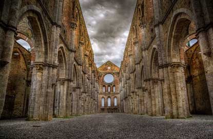 San-Galgano Tuscany Ruins Abbey Picture