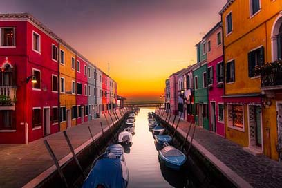 Venice Buildings Burano-Island Italy Picture