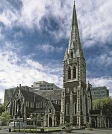 New-Zealand  Christchurch-Cathedral Christchurch
