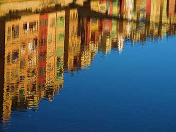 Reflection Mirroring Canal Water